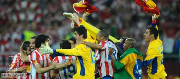 اتلتيكو مادريد با شكست ياران بيلسا قهرماني يورو ليگ را جشن گرفتند