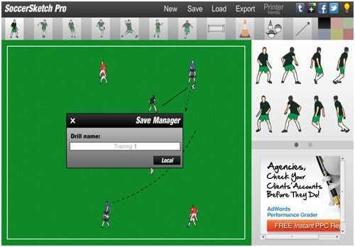 41 نرم افزار طراحي تمرين فوتبال SoccerSketch