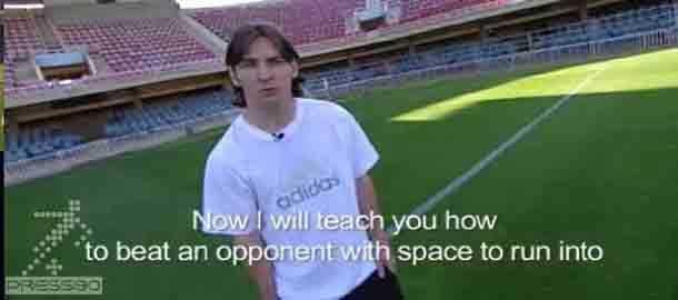 آموزش فوتبال توسط مسی
