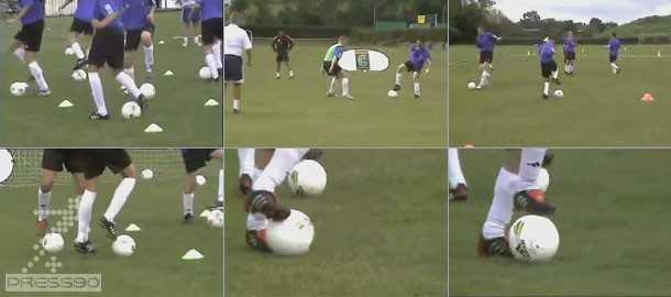 Training and technical training تمرینات بهبود در تکنیکهای انفرادی ویژه مدارس فوتبال