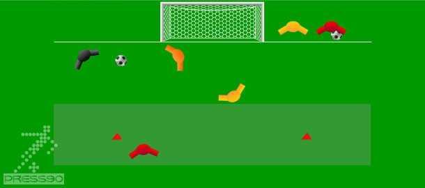 تمرین ترکیبی گلزنی با فرمت فلش