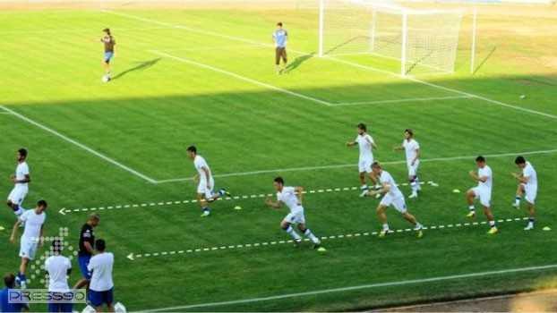 U.C. SAMPDORIA 06.08.2013. Soccer Warm Ups برنامه گرم کردن قبل از بازی سمپدوریا در یکی از بازیهای دوستانه