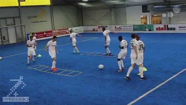 Modern Soccer Training like Jose Mourinho Pass and Speedtraining Combined دانلود فيلم تمرين هماهنگي و سرعتي خوزه مورينيهو