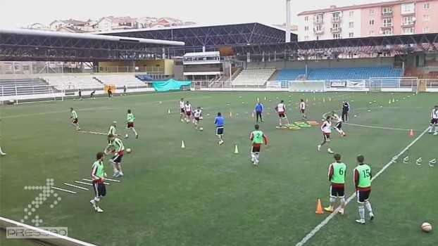 دانلود تمرینات هماهنگی و سرعتی با توپ بصورت تیمی از یک تیم ترکیه ای