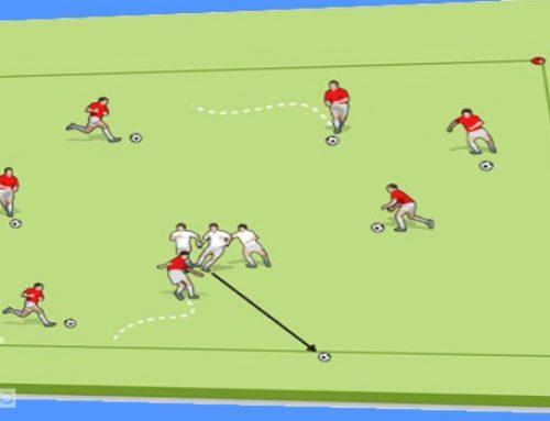 تمرین با نشاط هیولا با هدف ایجاد همبستگی برای بازیکنان رده های پایه