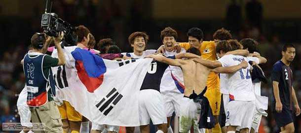 برتري كره جنوبي در برابر ژاپن و كسب، مدال برنز المپيك 2012 لندن