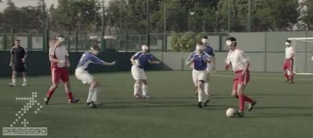 دانلود ويدئو تمرينات فوتبال نابينايان