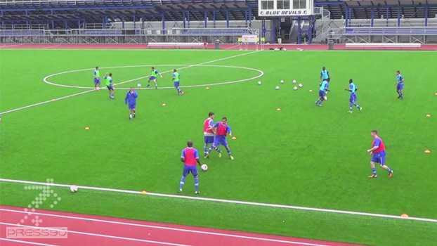 تمرین گرم کردن حرفه ای فوتبال