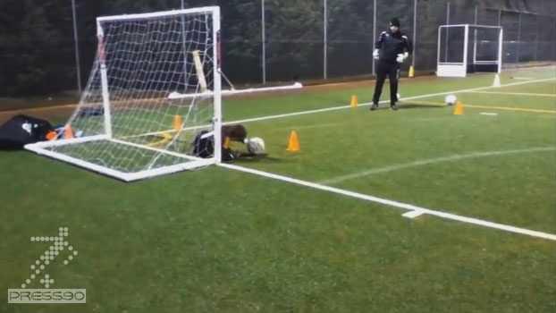 تمرینات دروازه بانی مدرسه فوتبال