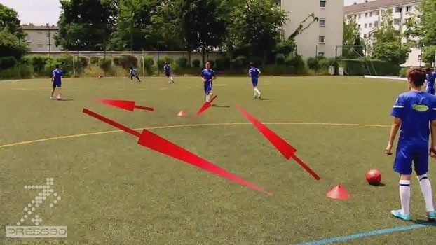 تمرین گلزنی در فوتبال