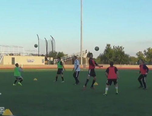 تمرین شاداب فوتبال – بازی تفریحی و رقابتی سر زنی با کار گروهی دو نفره