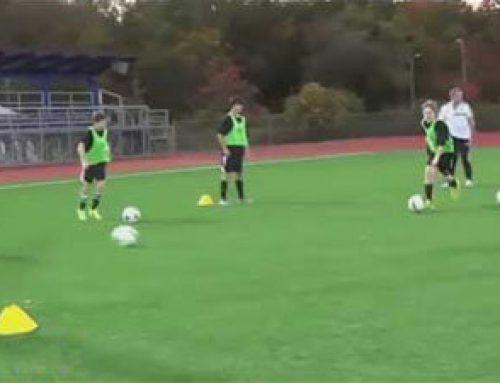 تایمینگ در فوتبال با تمرین عبور از تونل پاسکاری بازیکنان