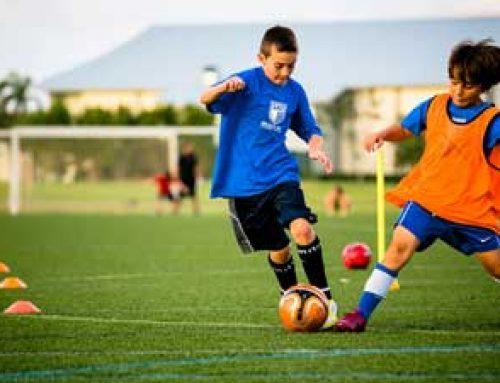 تمرین مدرسه فوتبال – جلسه تمرینی با هدف توسعه حرکت با توپ و حمایت از توپ